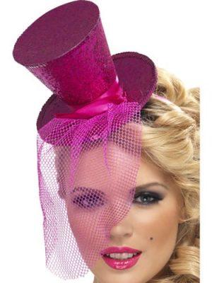 Fever Hot Pink Mini Top Hat