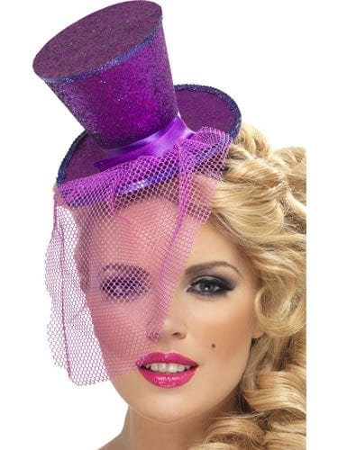Fever Purple Mini Top Hat
