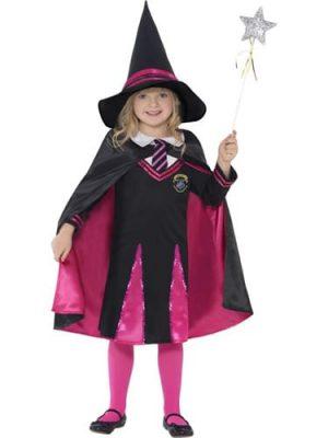 School Girl Witch Children's Halloween Fancy Dress Costume