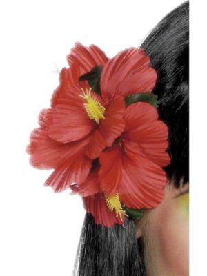 Hawaiian Flower Hairclip Red