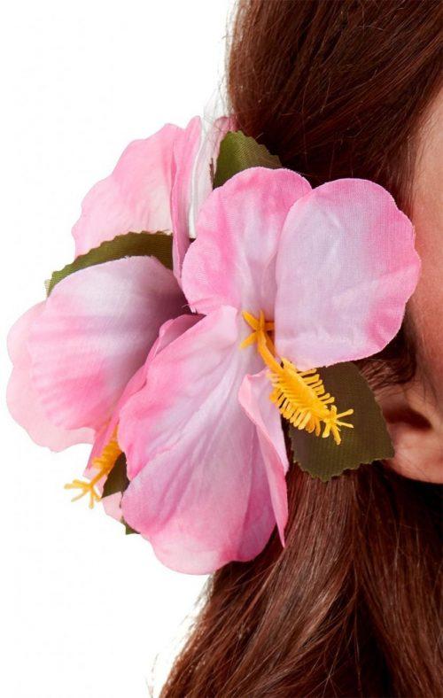 Hawaiian Flower Hairclip Pink-0
