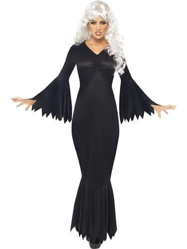 Midnight Vamp Ladies Halloween Fancy Dress Costume