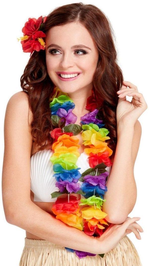 Bright Large Rainbow Lei