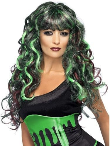 Blood Drip Monster Wig Purple/Green