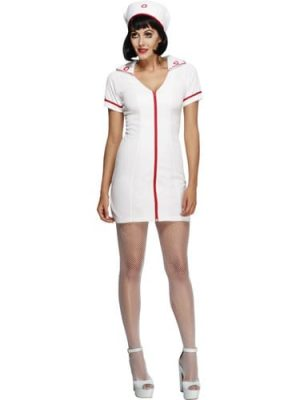 Fever Collection Sexy Nurse Ladies Fancy Dress Costume