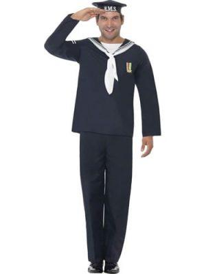 Naval Seaman Men's Fancy Dress Costume