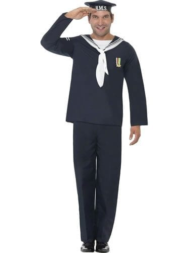 Naval Seaman Men's Fancy Dress Costume