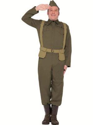 WW2 Private Home Guard Men's Fancy Dress Costume