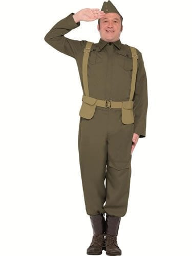 WW2 Private Home Guard Men's Fancy Dress Costume