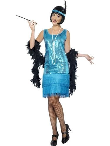 Flirty Flapper Ladies Fancy Dress Costume