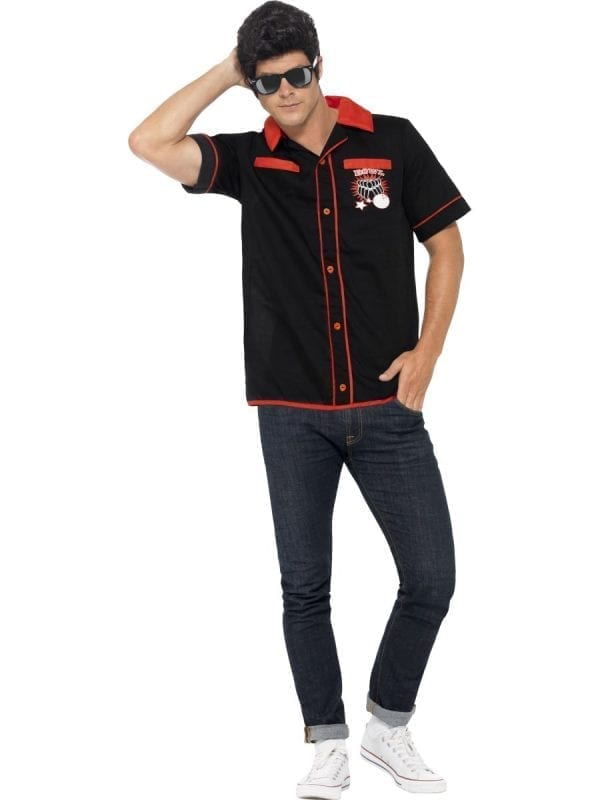 1950's Bowling Shirt Men's Fancy Dress Costume
