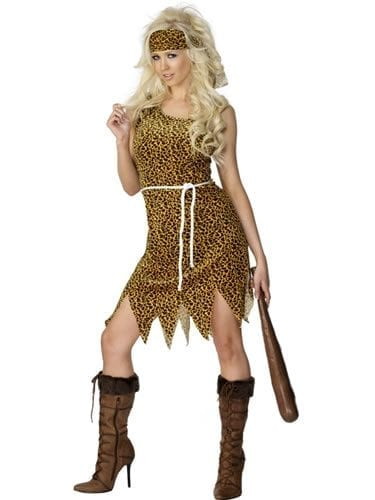 Cavewoman Ladies Fancy Dress Costume