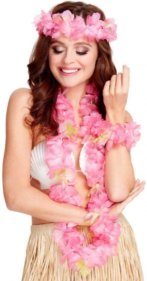Hawaiian 4-Piece Set Pink