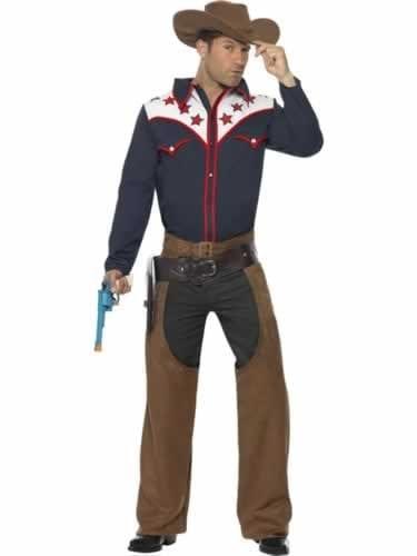 Rodeo Cowboy Men's Fancy Dress Costume