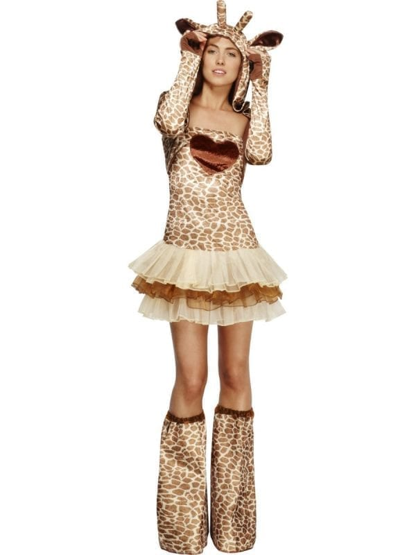 Fever Collection Giraffe Ladies Fancy Dress Costume
