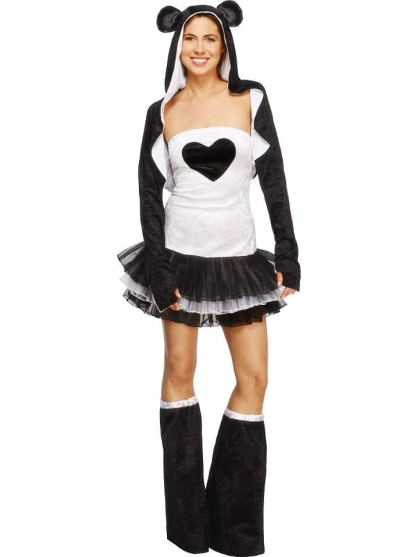 Fever Collection Panda Ladies Fancy Dress Costume