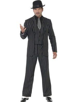 Vintage Gangster Boss Men's Fancy Dress Costume