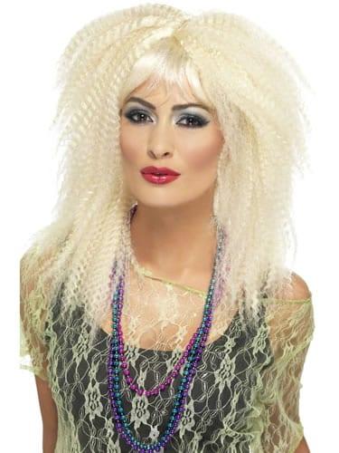 80's Trademark Blonde Crimp Wig