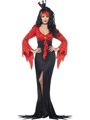 Evil Queen Ladies Halloween Fancy Dress Costume