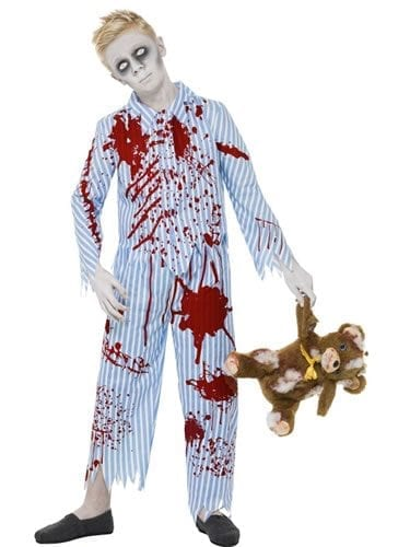 Zombie Pyjama Boy Children's Halloween Fancy Dress Costume