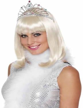 Silver Fan Tiara