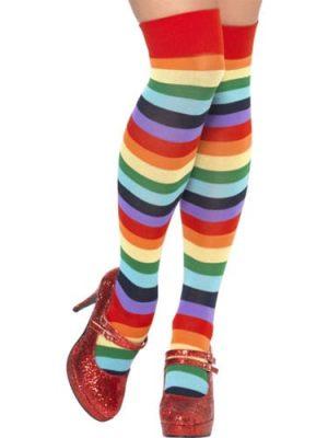 Long Multi Coloured Clown Socks