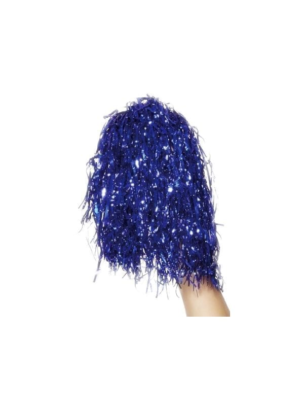 Pom Poms Tinsel Blue