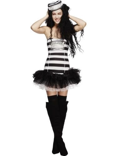 Fever Collection Convict Cutie Ladies Fancy Dress Costume