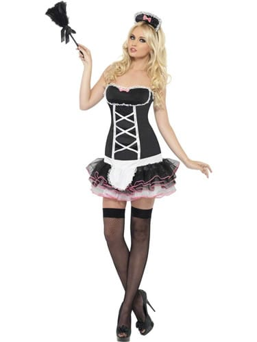 Fever Collection French Maid Fancy Ladies Fancy Dress Costume
