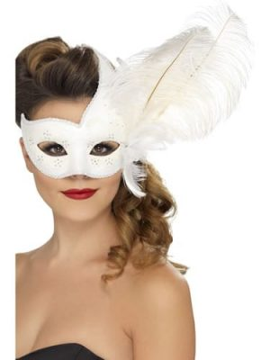 Ornate Columbina White Eyemask