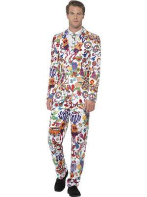 Groovy Standout Suit Men's Fancy Dress Costume