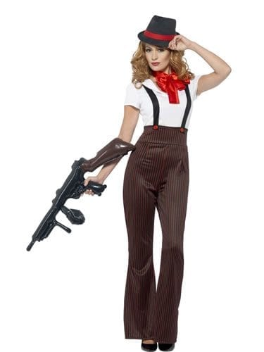 Glam Gangster Ladies Fancy Dress Costume
