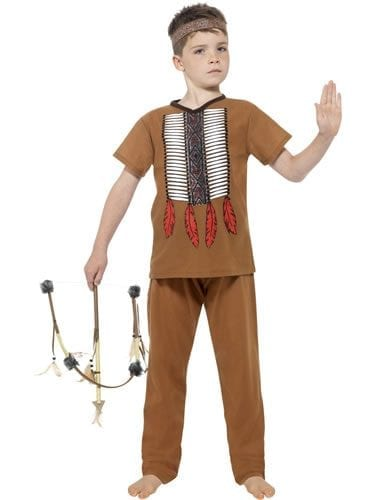 Native Indian Warrior Childrens Fancy Dress Costume