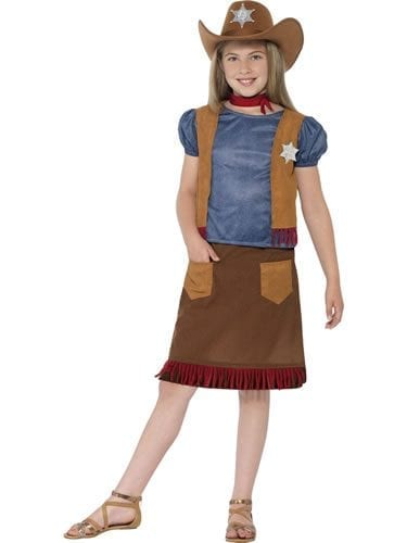 Western Belle Cowgirl Childrens Fancy Dress Costume