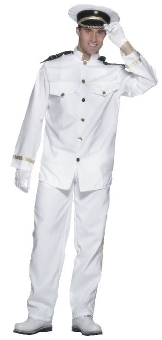 Captains Mens Fancy Dress Costume