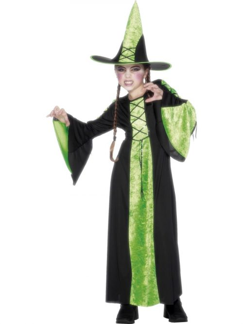 Bewitched Green/Black Halloween Childrens Fancy Dress