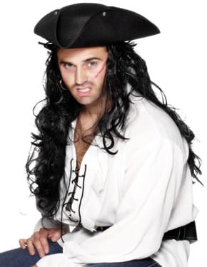 Pirate Tricorn Hat with Studs