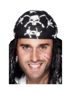 Pirate Bandana with Skull & Crossbones