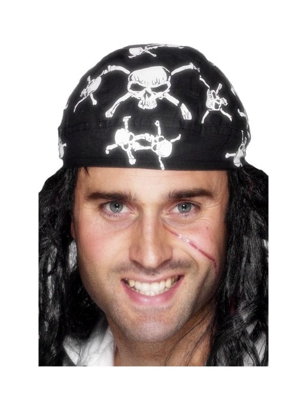 Pirate Bandana with Skull & Crossbones