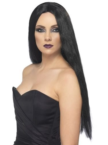 Black Witch Wig with Centre Parting