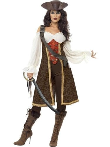 High Seas Pirate Wench Ladies Fancy Dress Costume
