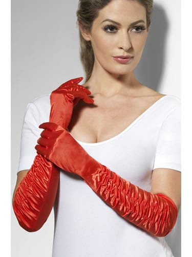 Long Red Temptress Gloves