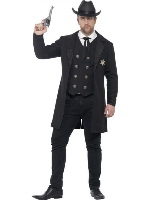 Curves Sheriff Men's Fancy Dress Costume