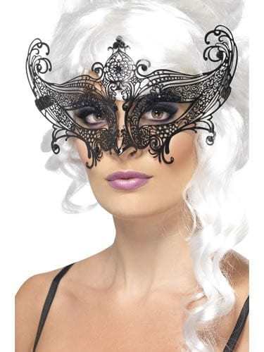 Farfalla Metal Filigree Black Eyemask