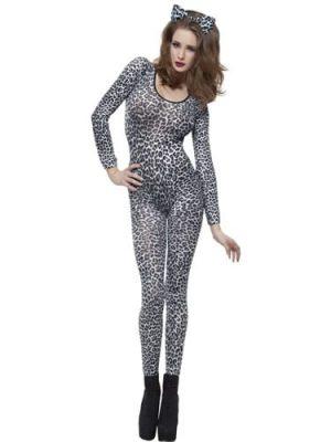 Bodysuit Leopard Print Ladies Fancy Dress Costume
