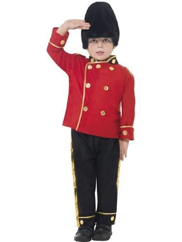 Busby Guard Boy's Children's Fancy Dress Costume