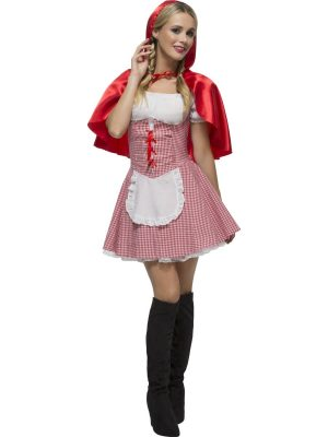 Fever Collection Red Riding Hood Ladies Fancy Dress Costume