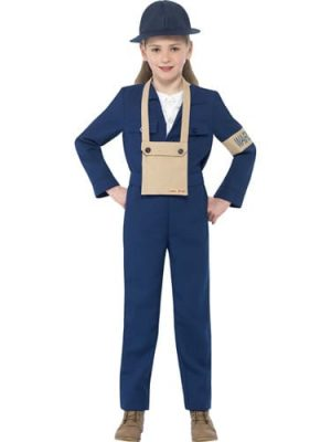 Horrible Histories Air Warden Children's Fancy Dress Costume
