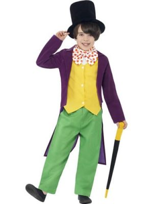 Roald Dahl's Willy Wonka Children's Fancy Dress Costume