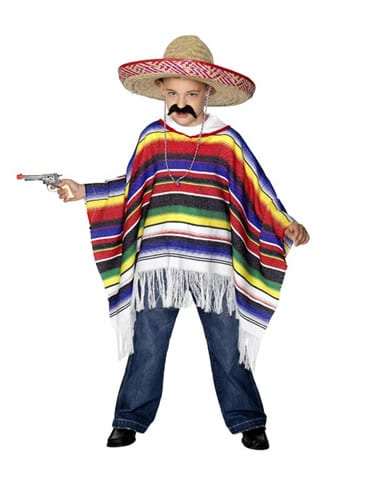 Poncho Childrens Fancy Dress Costume
